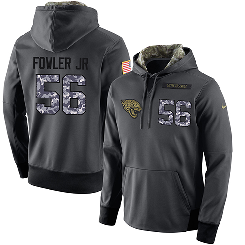 NFL Men's Nike Jacksonville Jaguars #56 Dante Fowler Jr Stitched Black Anthracite Salute to Service Player Performance Hoodie