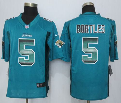 Nike Jaguars #5 Blake Bortles Teal Green Team Color Men's Stitched NFL Limited Strobe Jersey